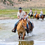 Horseback ride through the stream