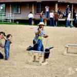 Kids cowboy roping